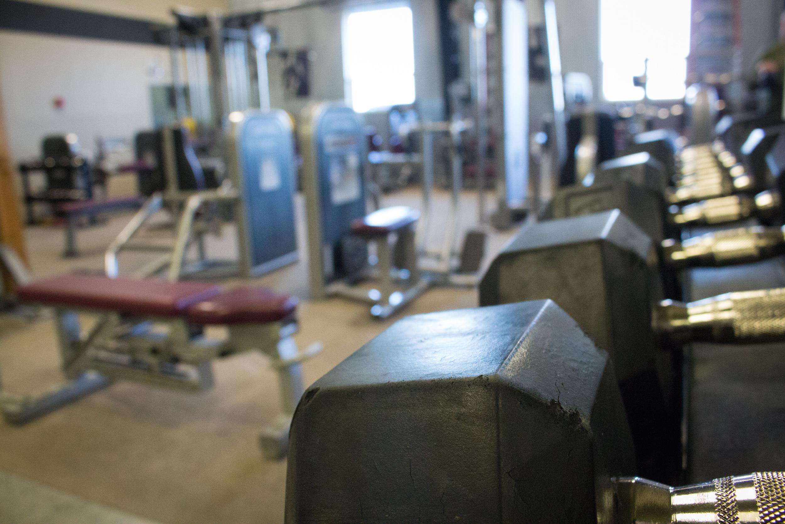 Strength Training at Manhattan Athletic Club, gym outside of Belgrade, Montana