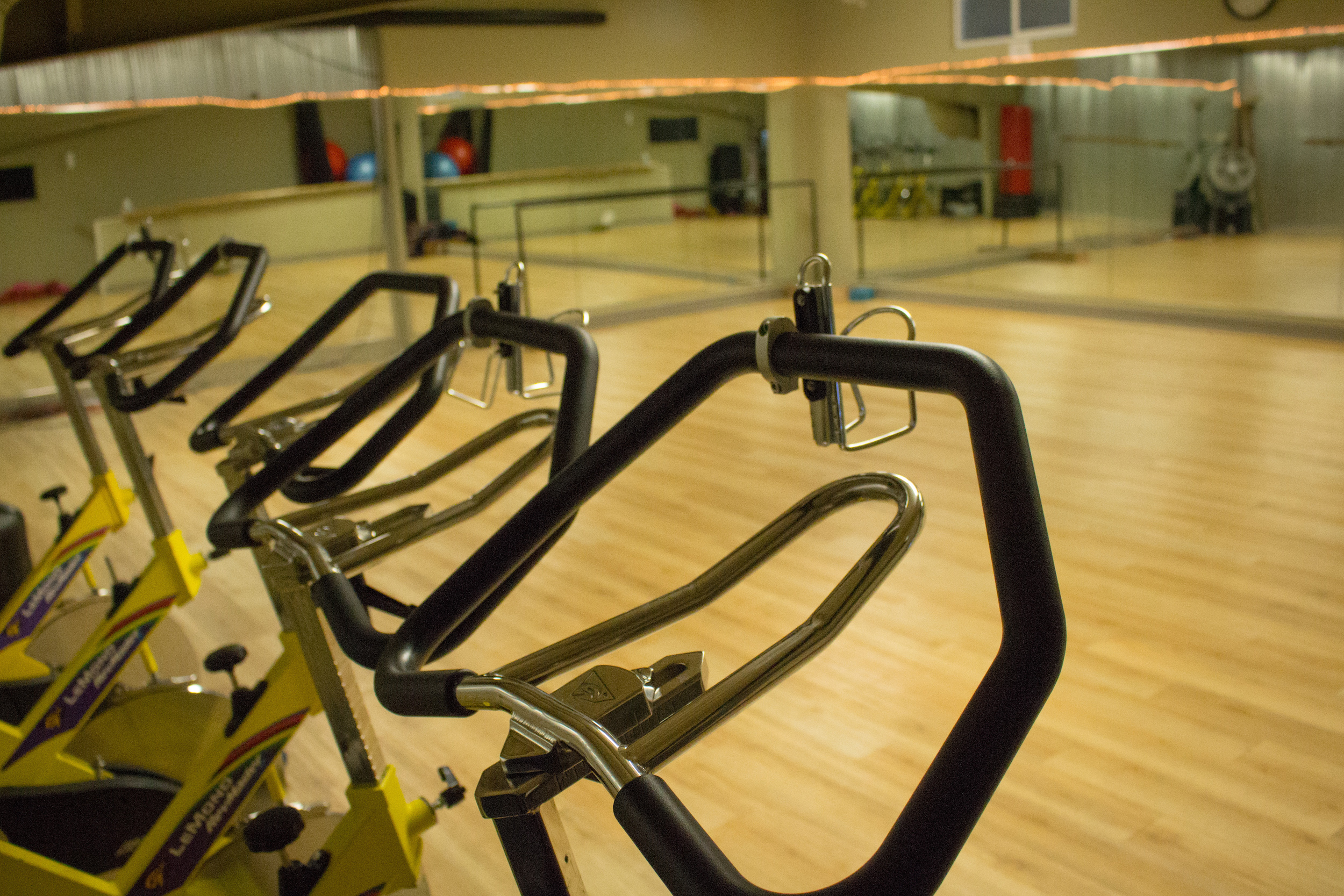 Cycling classes at the Manhattan athletic club and gym